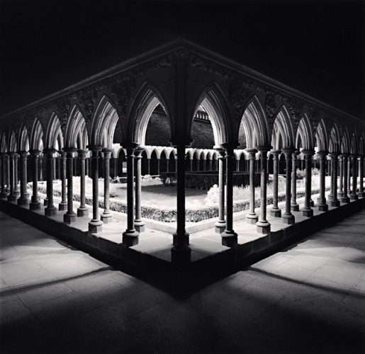 Cloisters, Study 1, Mont St. Michel, France, 2000 © Michael Kenna