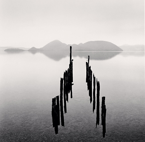 Pier and Nakashima Islands, Toya Lake, Hokkaido, Japan, 2002